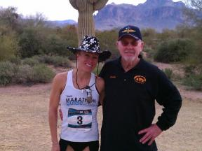 Leah Thorvilson 2012 Womens Half Winner Grady McEchern Race Director