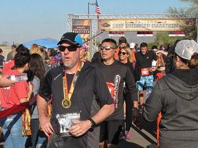 finish line 2018 Lost Dutchman Marathon