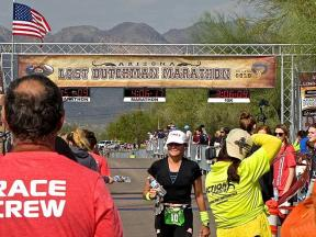 finish line1 2018 Lost Dutchman Marathon