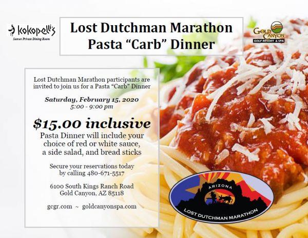 Pre-race pasta dinner