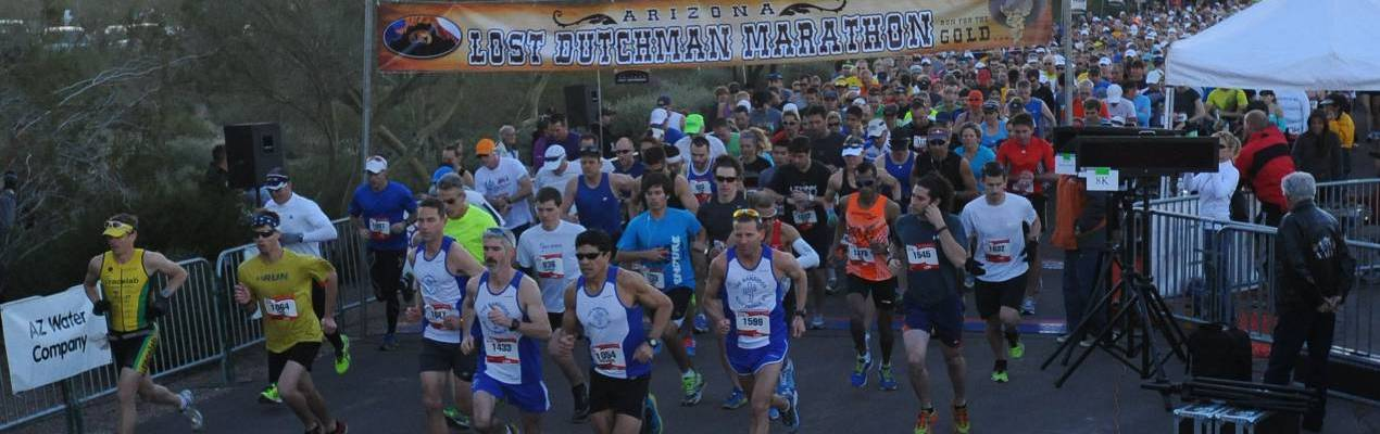 Lost Dutchman Half Marathon Start